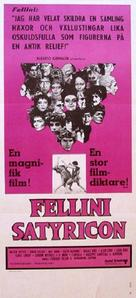 Fellini - Satyricon - Swedish Movie Poster (xs thumbnail)