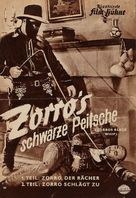 Zorro's Black Whip - German poster (xs thumbnail)