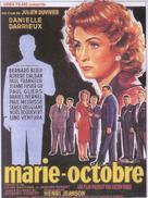 Marie-Octobre - Belgian Movie Poster (xs thumbnail)