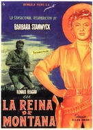 Cattle Queen of Montana - Spanish Movie Poster (xs thumbnail)