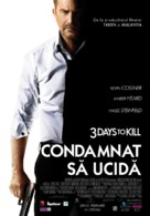 Three Days to Kill - Romanian Movie Poster (xs thumbnail)