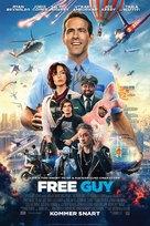 Free Guy - Danish Movie Poster (xs thumbnail)