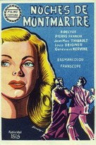 Les nuits de Montmartre - Spanish Movie Poster (xs thumbnail)