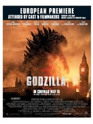 Godzilla - British Movie Poster (xs thumbnail)