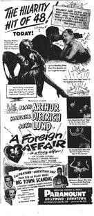 A Foreign Affair - poster (xs thumbnail)