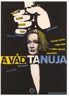Witness for the Prosecution - Hungarian Movie Poster (xs thumbnail)