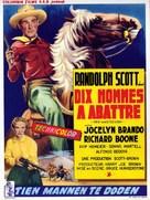 Ten Wanted Men - Belgian Movie Poster (xs thumbnail)