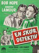 My Favorite Brunette - Danish Movie Poster (xs thumbnail)