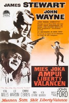 The Man Who Shot Liberty Valance - Finnish Movie Poster (xs thumbnail)