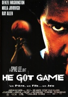 He Got Game - French Movie Poster (xs thumbnail)