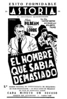 The Man Who Knew Too Much - Spanish Movie Poster (xs thumbnail)