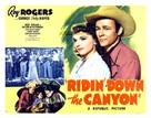 Ridin' Down the Canyon - Theatrical poster (xs thumbnail)