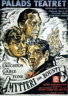 Mutiny on the Bounty - Danish Movie Poster (xs thumbnail)