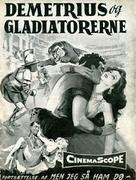Demetrius and the Gladiators - Danish Movie Poster (xs thumbnail)