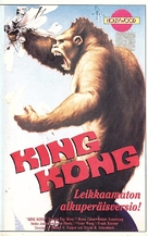 King Kong - Finnish VHS movie cover (xs thumbnail)