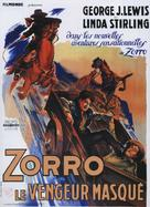 Zorro's Black Whip - French Movie Poster (xs thumbnail)