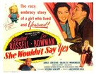 She Wouldn't Say Yes - Movie Poster (xs thumbnail)