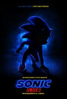 Sonic the Hedgehog - Italian Movie Poster (xs thumbnail)