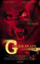 Ginger Snaps - German Movie Poster (xs thumbnail)