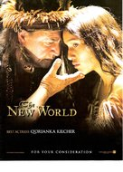 The New World - For your consideration poster (xs thumbnail)