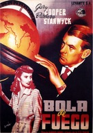 Ball of Fire - Spanish Movie Poster (xs thumbnail)