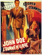 Meet John Doe - French Movie Poster (xs thumbnail)