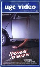Drive in Massacre - French VHS cover (xs thumbnail)