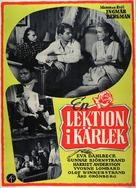 Lektion i kärlek, En - Swedish Movie Poster (xs thumbnail)