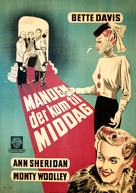 The Man Who Came to Dinner - Danish Movie Poster (xs thumbnail)
