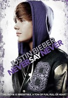 Justin Bieber: Never Say Never - DVD cover (xs thumbnail)