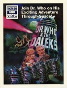 Dr. Who and the Daleks - Video release movie poster (xs thumbnail)
