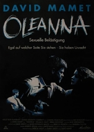 Oleanna - German Movie Poster (xs thumbnail)