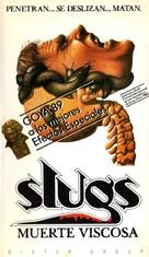 Slugs, muerte viscosa - Spanish VHS movie cover (xs thumbnail)