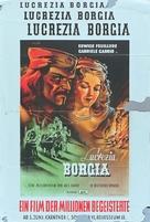 Lucrèce Borgia - German Movie Poster (xs thumbnail)