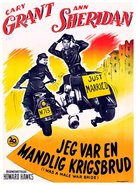 I Was a Male War Bride - Danish Movie Poster (xs thumbnail)