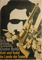 Deus e o Diabo na Terra do Sol - German Movie Poster (xs thumbnail)