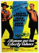 The Man Who Shot Liberty Valance - French Movie Poster (xs thumbnail)