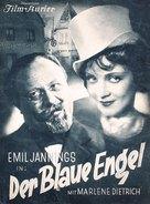 Der blaue Engel - German Movie Cover (xs thumbnail)