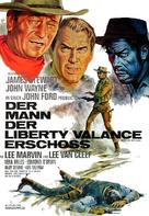 The Man Who Shot Liberty Valance - German Movie Poster (xs thumbnail)