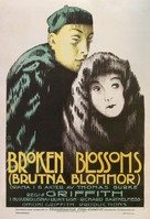 Broken Blossoms or The Yellow Man and the Girl - Swedish Movie Poster (xs thumbnail)