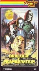 Dracula Vs. Frankenstein - British VHS movie cover (xs thumbnail)