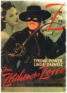 The Mark of Zorro - German Movie Poster (xs thumbnail)