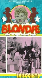 Blondie in Society - VHS cover (xs thumbnail)