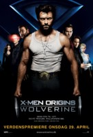 X-Men Origins: Wolverine - Danish Movie Poster (xs thumbnail)