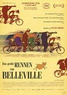 Les triplettes de Belleville - German Movie Poster (xs thumbnail)
