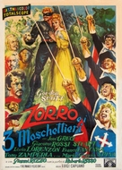 Zorro e i tre moschiettieri - Italian Movie Poster (xs thumbnail)