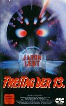 Jason Lives: Friday the 13th Part VI - German VHS movie cover (xs thumbnail)