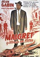 Maigret tend un piège - Swedish Movie Poster (xs thumbnail)