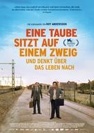 En duva satt på en gren och funderade på tillvaron - German Movie Poster (xs thumbnail)