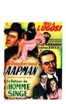 Return of the Ape Man - Belgian Movie Poster (xs thumbnail)